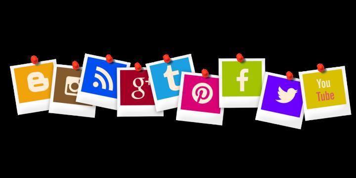 Loga serwisów social media